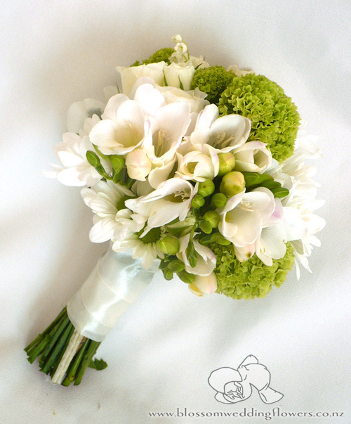Bridal Bouquets With Freesia Wedding Blossoms October