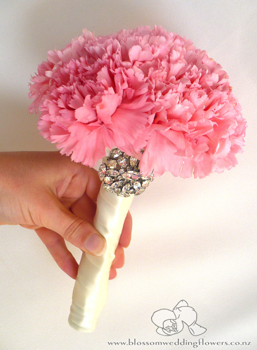 Carnations wedding blossoms these are the buttonholes detailed with swarovski crystals i think they are so amazingly beautiful with all their soft ruffly petals like tissue paper mightylinksfo