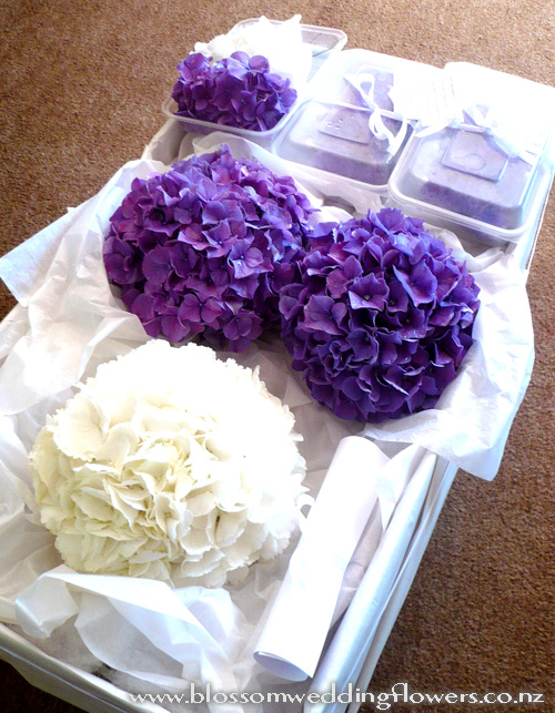 Wedding Flowers With Hydrangea : Gallery for gt lavender hydrangea wedding bouquets